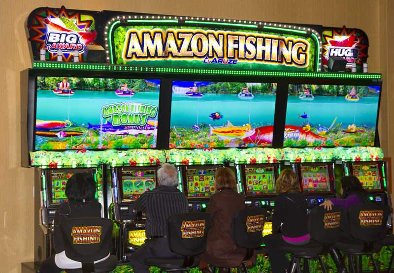 Barona takes the bait with amazon fishing g3 newswire for Fish slot machine
