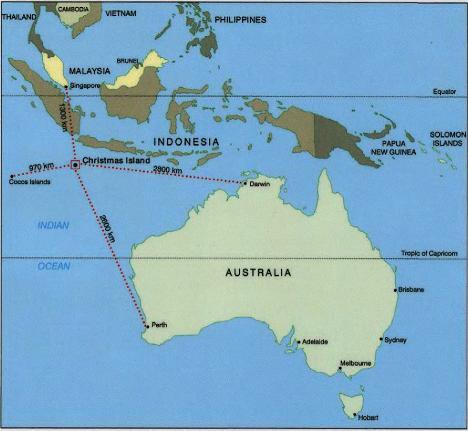 Christmas Island Western Australia Map