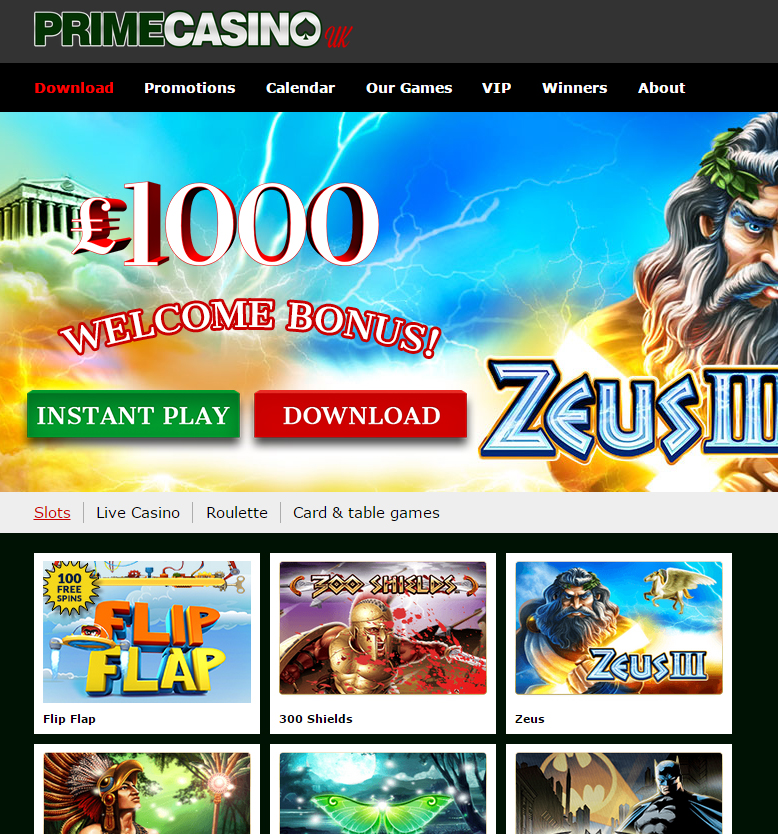 Prime casino download odds of winning roulette color